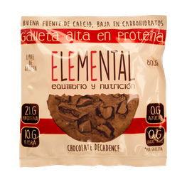 Galleta De Proteina Sabor Chocolate 80Gr