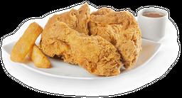 Combo Medio Pollo Apanado