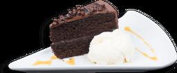 Porción de Torta con Helado
