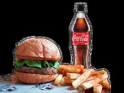 Classic Burger + Papas + Gaseosa