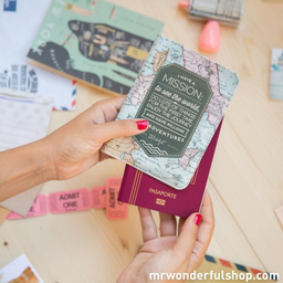 Funda para pasaporte - I have a mission to see the world
