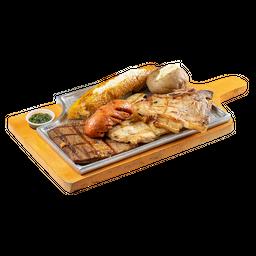 Sobrebarriga + Pollo + Cerdo + Chorizo