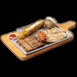 Sobrebarriga + Pollo + Chorizo