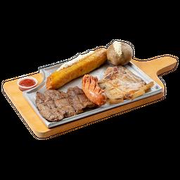 Carne de Res + Cerdo + Chorizo
