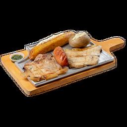 Cerdo + Pollo + Chorizo