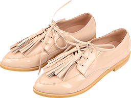 Oxford Pompones Color Nude Suela Beige