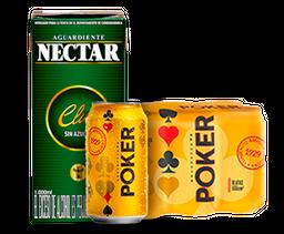 Cerveza Lata Poker 6UN + Aguardiente  Verde