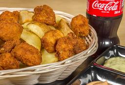 Fish'n chips + bebida natural o Coca cola