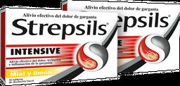 Rappicombo Strepsils Intensive Tabletas Miel Y Limón x2