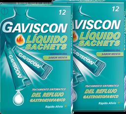 Rappicombo Gaviscon Liquido Reflujo Estomacal Sachet 2x