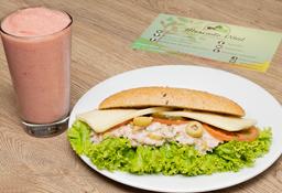 Sandwich de Atún + Smoothie Muy Simple