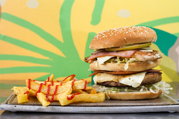 Hamburguesa Combinada Carne y Pollo