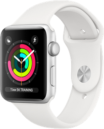 APPLE WATCH S3 42 SL AL WHT SP CEL-CLA