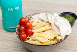 Pasta Pollo Pesto + Te Hatsu