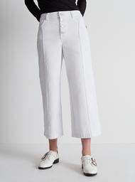Pantalón Blanco Culotte Botones Frontales