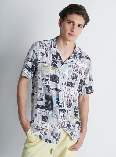 Camisa Resort Newspaper a domicilio en Colombia - Rappi 85bf4138105