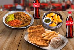 Chuleta + Patacón + 5 Empanadas de Carne + 2 Coca-Cola