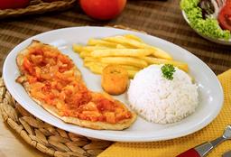 Pollo en Salsa Criolla
