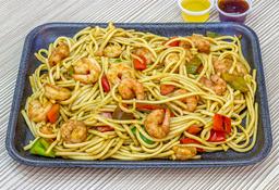 Spaguetti con camarón.