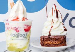 Sundae Sencillo + Brownie con Helado Yogurt