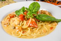 Spaguetti con Salmone