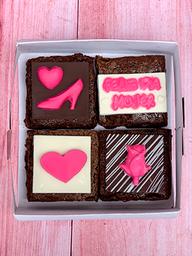 Caja de 4 brownies Personalizados