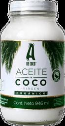 A de Coco Aceite de Coco Virgen Orgánico - 946 ml
