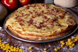 Pizza Estofada Pollo Maíz Tocineta