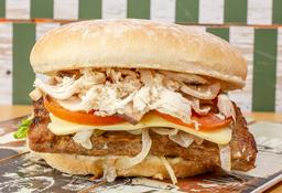 Hamburguesa Gladeador (Salsa Pollo y Champiñón)