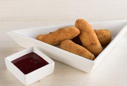 Dedos de Mozzarella con Salsa Agraz