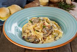 Pasta Carbonara con Portobello