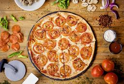 Pizza Mediana Delgada Tradicional, Hot Poppers, 2 Gaseosas