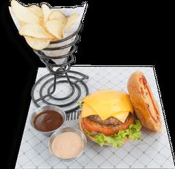 Rappi Cheese Burger + Budweiser