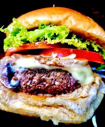 Combo Blue Mushroom Burger