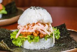 Sushi Burger de Langostinos + Limonada de Patilla