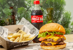 Combo Cheese Burger Doble