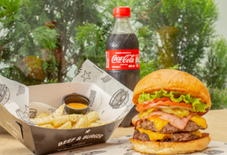 Combo Cheese Bacon Buger Doble