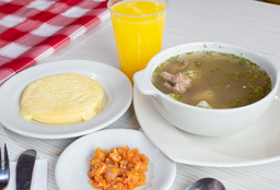 Desayuno con Caldo