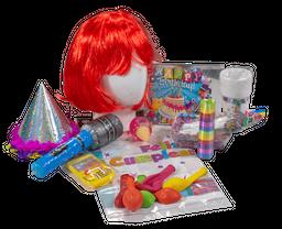 Kit cumpleaños peluca colores