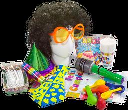 Kit Cumpleaños Peluca Afro