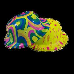 Docena Sombreros Fiesta Neon Copa Baja Estampado