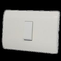 Interruptor Genesis Conmutable Sencillo Blanco