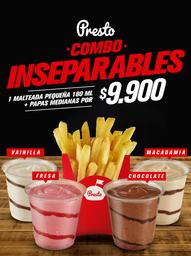 🥤 Mini Malteada 180 ml + Papas Medianas