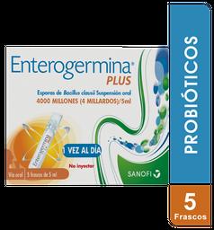 Enterogermina 4000 Millones X 5 Frascos. Probióticos.