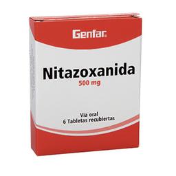 Nitazoxanida 500Mg Cjx6Tab/Rec Gef