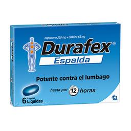 DurafexEspalda 250/65Mg Cjx6Cap T.Q