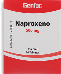 Naproxeno 500Mg Cjx10Caps Gef