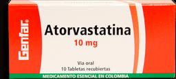 Atorvastatina 10Mg Cjx10Tab Gef