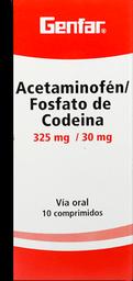 Acetamin/Codein 325/30 Mg Com Cjx10 Gef