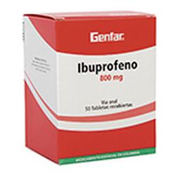 Ibuprofeno 800Mg Cjx50Tab Gef